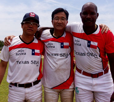 J.B. Lee, Y.J., and Jamie Demericas, Texas SBA Polo Team