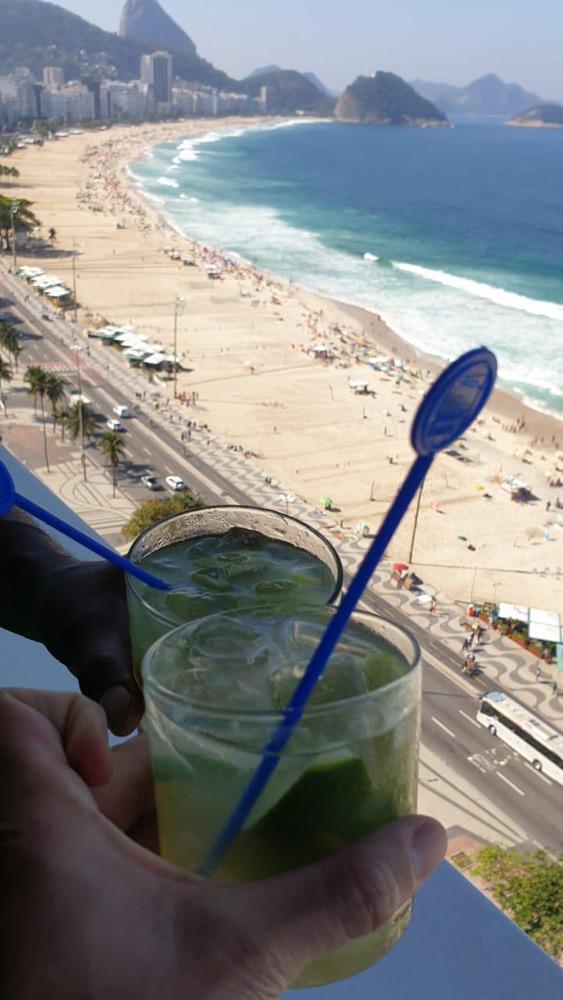 Caiparinhas at Copacabana Beach Texas SBA Polo Team